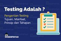 pengertian testing