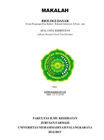 Contoh Cover Makalah Biologi