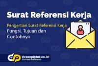 surat referensi kerja