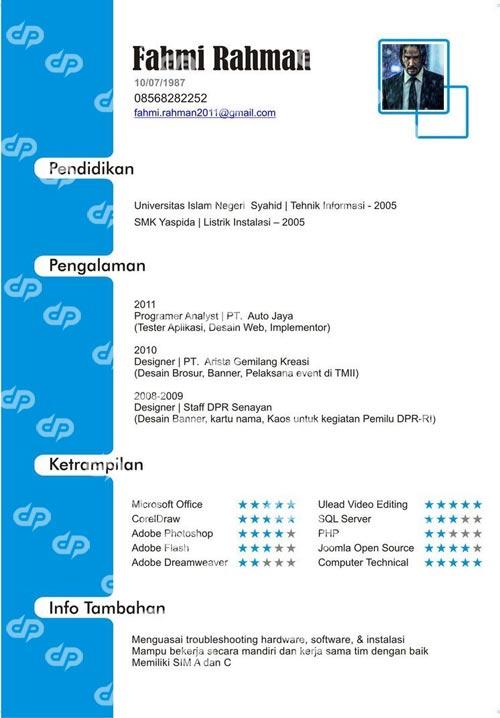 contoh portofolio programer