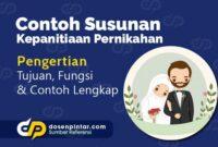 Contoh Susunan Kepanitiaan Pernikahan