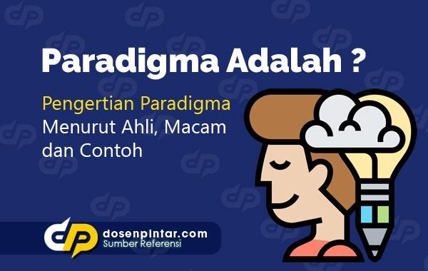 Pengertian Paradigma