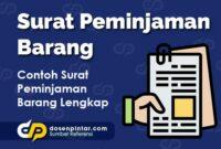 Contoh Surat Peminjaman Barang