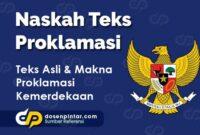 Teks Asli Proklamasi Kemerdekaan Indonesia
