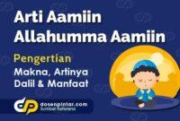 Arti Aamiin Allahumma Aamiin