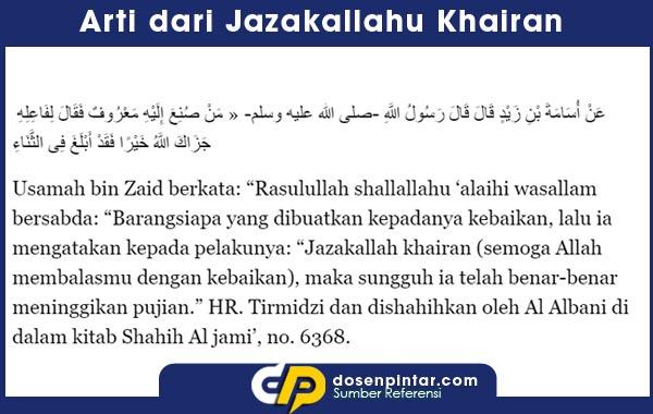 Arti Jazakumullah Khairan Katsiran