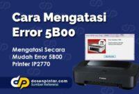 Cara Mengatasi Error 5B00