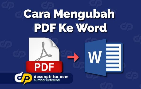 Cara Mengubah PDF Ke Word