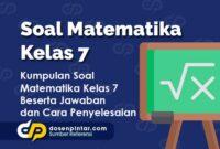Soal Matematika Kelas 7