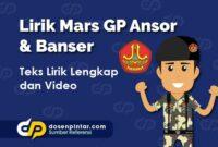 Lirik Mars GP Ansor & Banser