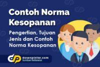 Contoh Norma Kesopanan