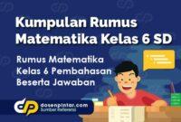 Kumpulan Rumus Matematika Kelas 6 SD