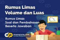 Rumus Limas - Volume dan Luas
