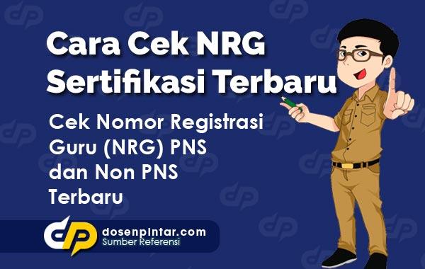 Cara Cek NRG Sertifikasi Tahun 2021