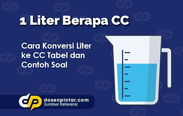 1 Liter Berapa CC