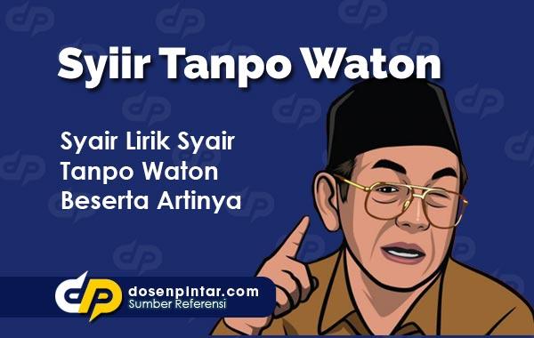 Lirik Syiir Tanpo Waton
