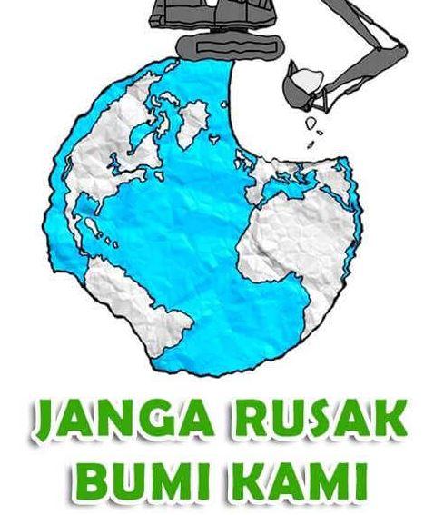 Poster Lingkungan Hidup Alam yang Dirusak